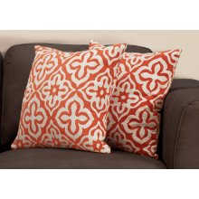 "PILLOW - 18""X 18"" / ORANGE MOTIF DESIGN / 2PCS"