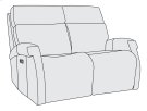 Clemens Power Motion Loveseat Product Image