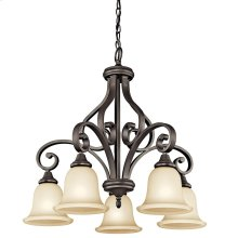 Monroe 5 Light Chandelier with LED Bulbs Olde Bronze®
