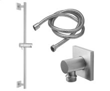 Slide Bar Handshower Kit - Cylinder Handle With Square Base