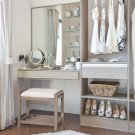 Amelia Vanity Stool - Antique Gray Product Image