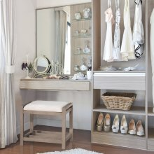 Amelia Vanity Stool - Antique Gray