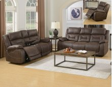 "Aria Pwr-Pwr Glider Recliner, Saddle Brown,40.5""x44""x41"""