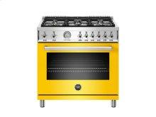 36 inch 6-Burner, Gas Oven Yellow