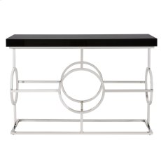 Stainless Steel Console Table With Black Top Product Image