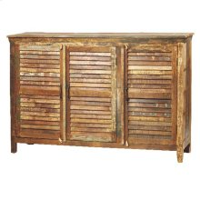 Louvered Sideboard 3 Door