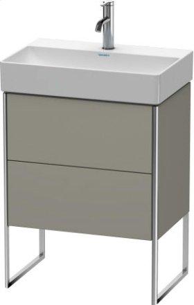 Vanity Unit Floorstanding Compact, Stone Grey Satin Matt Lacquer
