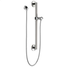 Chrome Adjustable Slide Bar / Grab Bar Assembly with Elbow