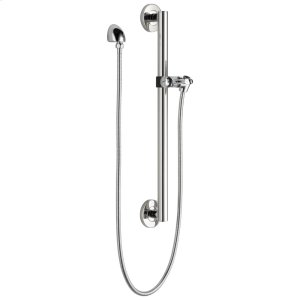 Chrome Adjustable Slide Bar / Grab Bar Assembly with Elbow Product Image