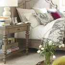 Corinne - Marble Top Leg Nightstand - Sun-drenched Acacia Finish Product Image