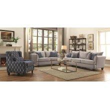 Hallstatt Casual Grey Two-piece Living Room Set