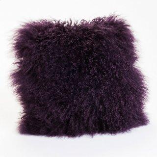 Lamb Fur Pillow Purple