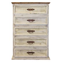 White Wash Chest