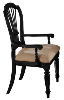 Wilshire Dining Arm Chair Rubbed Black