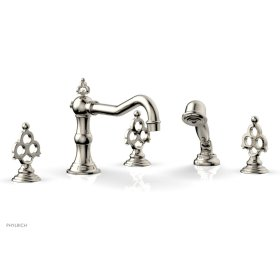 MAISON Deck Tub Set with Hand Shower 164-48 - Polished Nickel
