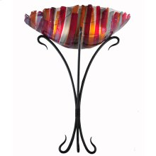 "18""W Lava Fused Glass Wall Sconce"