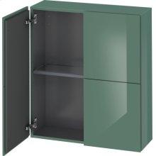Semi-tall Cabinet, Jade High Gloss Lacquer