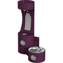 Elkay Outdoor EZH2O Bottle Filling Station Wall Mount, Non-Filtered Non-Refrigerated, Purple