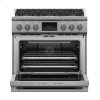 "Fisher & Paykel Dual Fuel Range, 36"", 6 Burners, Self-Cleaning, Lpg"