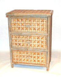 Bamboo 3 Drawer Cabinet- 22.5X13.25X30.75 Product Image