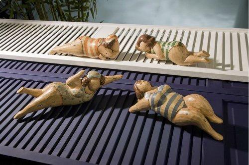 Bathing Beauties in Natural Wood - Set of 4