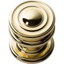 Campaign Round Knob 1 1/4 Inch - Polished Brass