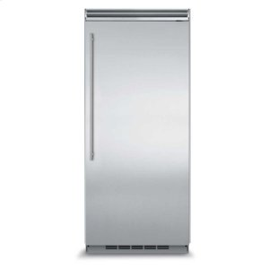 "MarvelMarvel Professional Built-In 36"" All Freezer - Solid Stainless Steel Door - Left Hinge, Slim Designer Handle"