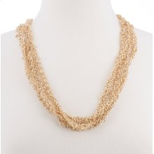 BTQ Gold Multi Chain Long Necklace