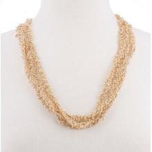 BTQ Gold Multi Chain Long Necklace