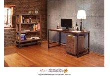 Writing Desk w/Wood Top & Iron Base*