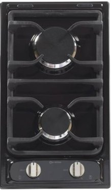 "Black 12"" Deluxe Gas Cook Top"