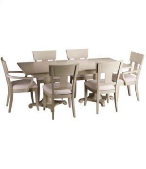 "Meyer Double Pedestal Table w/ 24"" Leaf"