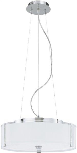 Fluor. Ceiling Lamp, Chrome/glass Shade, Cir. Fluor. T9 32w