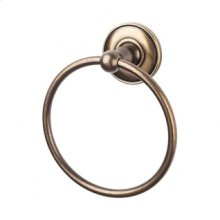 Edwardian Bath Ring Plain Backplate - German Bronze