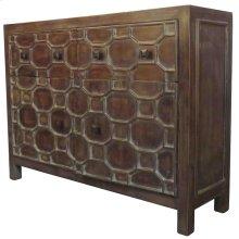 Silvestro Distressed Sideboard 2 Drawers + 2 Doors, Antique Brown