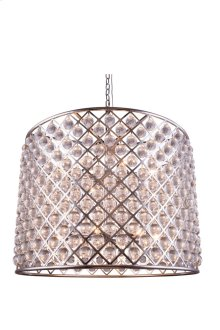 """1204 Madison Collection Chandelier D:35.5"""" H:28"""" Lt:12 Polished nickel Finish (Royal Cut Crystals)"""
