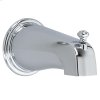 Deluxe Brass Diverter Tub Spout - Polished Chrome