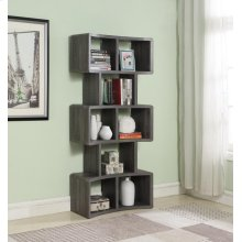 "Weathered Grey 70"" Bookcase"