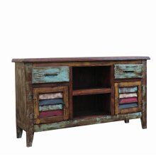 Painted 2 Door/2 Drawer TV Stand