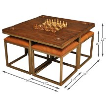 Low Game Table With Four Stools