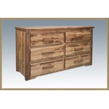 Homestead 6 Drawer Dresser - Stained and Lacquered