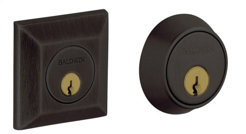 Oil-Rubbed Bronze Squared Deadbolt