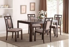 5650-500  Thorton Parquet Wood Dining 7 PC Set