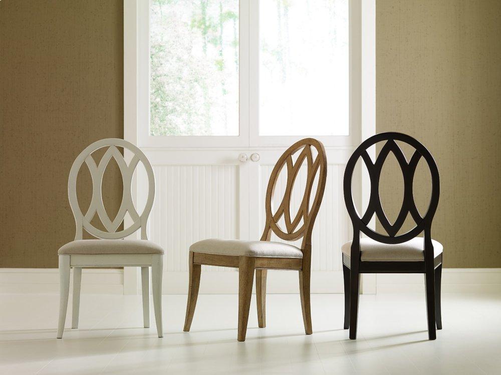 Elegant Oval Back Side Chair   Peppercorn