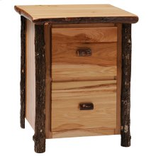 Two Drawer File Cabinet Natural Hickory
