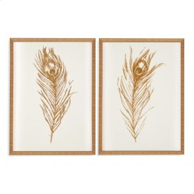 Gold Foil Feather I