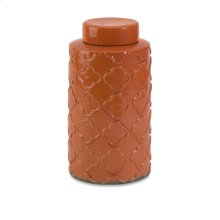 Essentials Large Orange Canister w/ Lid