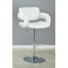 Contemporary White and Chrome Bar Stool