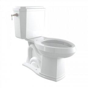 Satin Nickel Perrin & Rowe Deco Elongated Close Coupled 1.28 Gpf High Efficiency Water Closet/Toilet