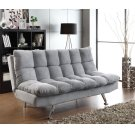 Transitional Dark Grey and Chrome Sofa Bed Product Image